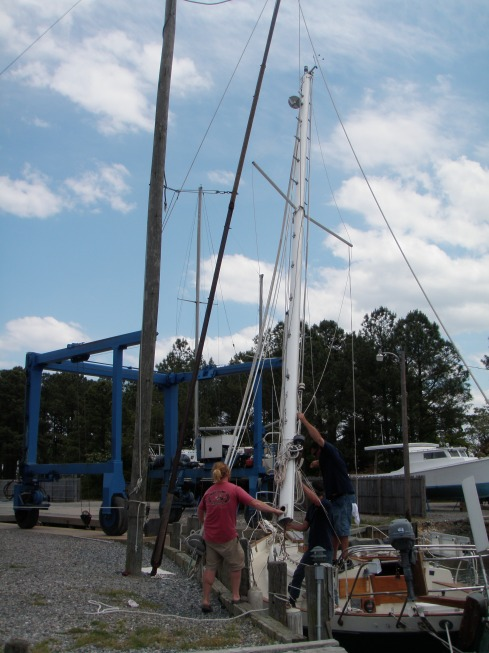 Mast downrigging